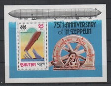 B687 Bhutan Blok 76a postfris Zeppelins