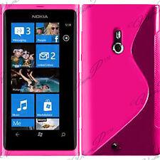 Case Cover TPU Silicone GEL Soft S Grounds Wave Nokia Lumia 800 + Film