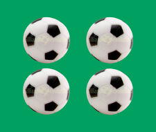 4 Soccer Foosballs - Black & White Engraved Table Soccer Balls