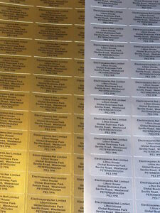 260 Personalised GOLD SILVER or  WHITE Printed Sticky Address Labels Stickers