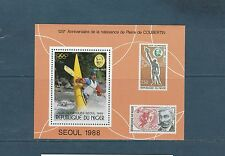 Niger  bloc jeux olympiques de  Séoul   1988  num:  54  **