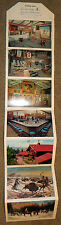 Buffalo Bill Cody Museum postcard booklet 1957 Cowboys & Indians / Postally used