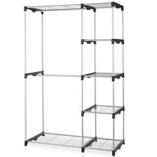 Closet Organizer Storage Rack Portable Clothes Hanger Home Garment Shelf Rod G68