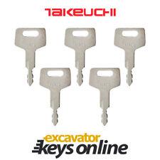 Takeuchi H806 (set of 5) Excavator Key Takeuchi Excavator Takeuchi Ignition