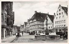 AK Biberach an der Riß PKW auf Marktplatz Fotokarte 1931
