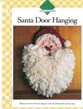 "Santa Door Hanging 15"" x 19"" Crochet Single Pattern Vanna White"