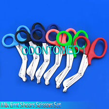 6 PAIRS PARAMEDIC EMT TRAUMA SHEARS SCISSORS FIRST AID 7.25""