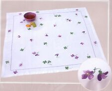 "DMC Freestyle Embroidery Kit ""Violet and Clover Tablecloth"""