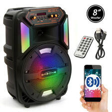 1000 Watts Wireless Portable Party Karaok Bluetooth Speaker Audio Stereo +Remote