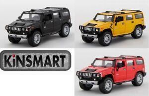 """3PC SET: 6.5"""" Kinsmart 2008 Hummer H2 SUV Diecast Model Toy Car 1:32"""