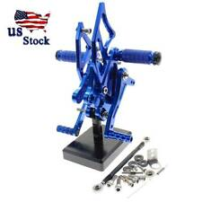 Blue crazy sport Front Footrest Foot Pegs For YAMAHA YZF R25 YZFR3 R3 YZF MT09 Tracer 900 900GT FZ09 FJ09 XSR 900 700 SCR950 FZ8 FJR 1300 XJR 1200 MT10 MT07 MT03 MT25 MT07 XSR700 FZ6 FJ09 TDM MT