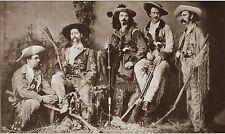 "Wild Bill Hickok & Buffalo Bill Cody & Gun Fighters Western Photo Sepia  8 X 10"""