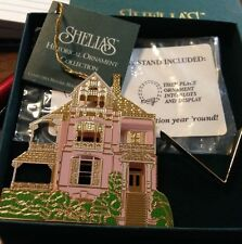 Shelia'S Pink House Ornament - Or 020