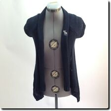 Abercrombie  Navy Draped Cardigan Sweater s/m