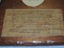 ROGER B. TANEY Signed 1807 Legal Document 5th U.S. Chief Justice