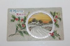 "VINTAGE EARLY 1900'S ""MERRY XMAS""  EMBOSSED POSTCARD"
