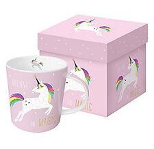 """Tasse Einhorn""""Pink Unicorn"""" Believe in Magic...Geschenk-Set*Becher""""Porzellan ppd"""