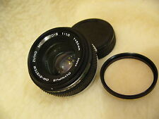 Olympus OM 50mm f1.8 Zuiko Auto S M/I Japan lens, fits OM camera mount optics **