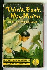 THINK FAST, MR MOTO by Marquand, Pocket #59 1st Asian crime pulp vintage pb