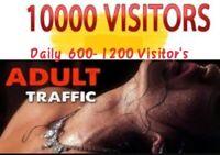 10,000 Real Organic Adult Visitors,website traffic worldwide