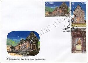 UNESCO: Temple area Wat Phou cultural landscape Champasak -FDC(I)-I-