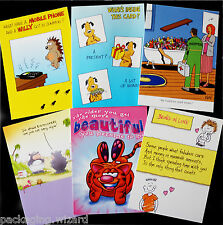Pack of 6 ~ Adult Humour ~ Quality Birthday Greetings Cards ~ 17.5cm x 12.5cm