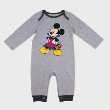 12 M Disney Mickey Mouse One piece Halloween Romper gray NWT dc3e053ec