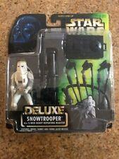 "Star Wars: Snowtrooper {E-WEB Heavy Blaster} 3.75"" Deluxe Action Figure 1996"