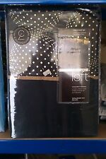 CATHERINE LANSFIELD SINGLE DUVET SET - GLOBE - BLACK.