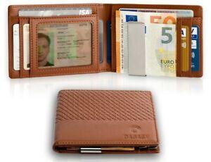 Dabagy Premium Geldbörse mit Geldklammer - Geldbeutel mit RFID Schutz & Münzfach
