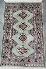 Hand-knotted Carpet 2.5x4 Finest Peshawar Bokhara Traditional Wool Rug Bokhara