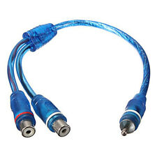 1 RCA Male To 2 Female Splitter Stereo Audio Y Adapter Cable Wire Connector