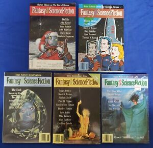 Magazine Of Fantasy & Science Fiction (1949) 5 Issues 1991 Great Authors! FN/VF