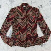 Diane Von Furstenberg Wool Bld Knit vintage style fitted stripe sweater jacket 2