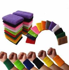 1pc Unisex Cotton Wrist Wristband Sports Sweatband Sweat Band#Q