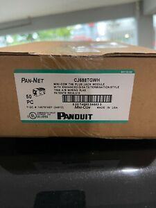 Panduit Category Cat 6 Jack RJ45 CJ688TGWH NEW BOX (50) JACKS FREE SHIPPING LOT