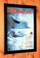 Vintage Amiga CD32 Zool James Pond Werbeblatt Gerahmt Poster / Ad Page Framed