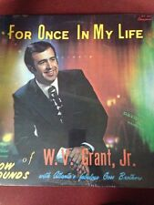 "W.v Grant Jr.-For Once In My Life 12""Album-21 St Century Ministries-VINTAGE-RARE"