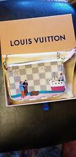Louis Vuitton 2016  Transatlantic Cruises Christmas Animation Mini Pochette BNIB