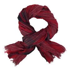Bufanda Hombre Rojo Negro de Ella Jonte Viscosa más Amplio Suave a Rayas Bufanda