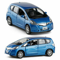 1:36 Honda Jazz Model Car Diecast Gift Toy Vehicle Blue Pull Back Collection Boy