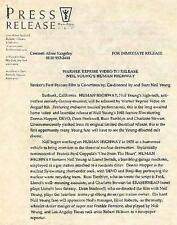 Original Press Release for Neil Young movie Human Highway 1983 Warner Bros