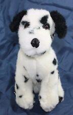 "Plush stuffed Dalmatian Puppy dog white black spotted 10"" Sitting Lovey Toy B"