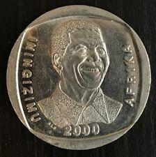 "2000 South Africa Madiba Nelson Mandela ""Smiley""  R5 Coin"