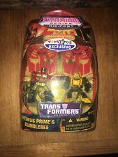 "BUMBLEBEE & OPTIMUS PRIME TRU TRANSFORMERS G1 Toys ""R"" Us EXCLUSIVE 2-Pack 2007"