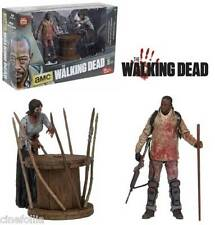 The Walking Dead Morgan w/ impaled walker deluxe box action figure set McFarlane