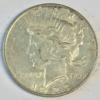 1923-D Peace Silver Dollar - Check the  High Quality Scans #C424