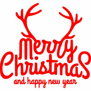 Merry Christmas Iron on Screen Print DIY transfer for fabric xmas happy new year