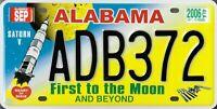 PLAQUE IMMATRICULATION Américaine - ALABAMA first to the moon USA