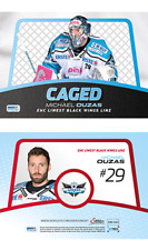 EBEL 2015/16 Caged Michael Ouzas Sonderkarte Playercard Black Wings Linz